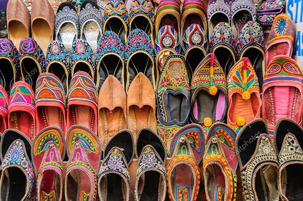 Jaisalmer traditional leather shoes