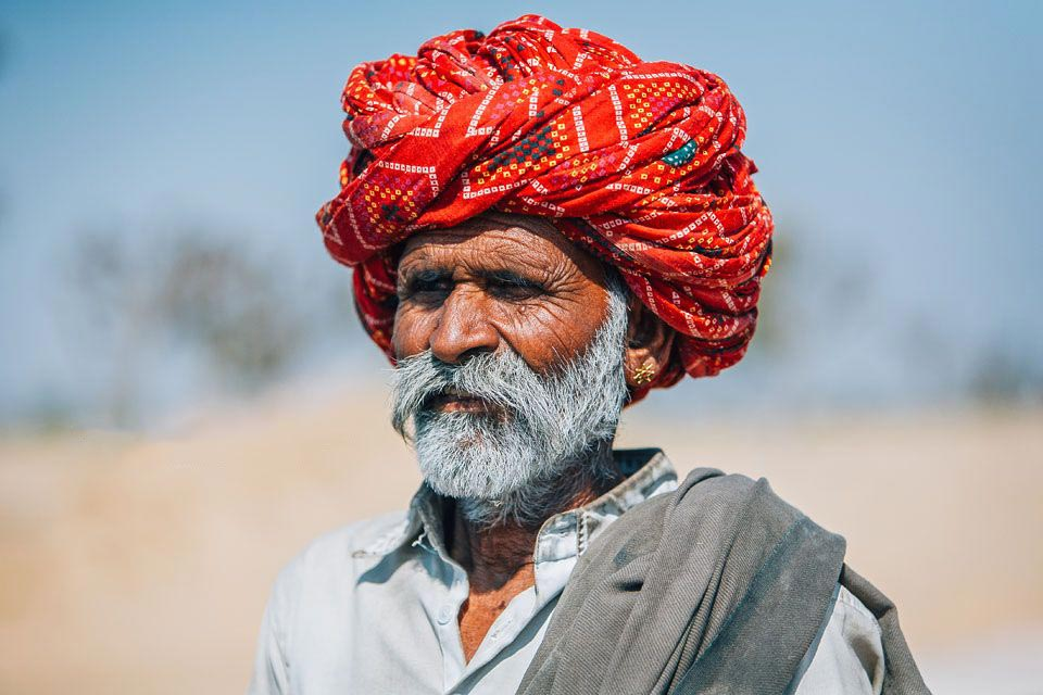 Rajasthan man in turban